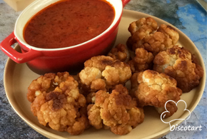 Fried Cauliflower with Lemon Hot sauce Pic