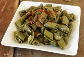 Green beans with olive oil Pic