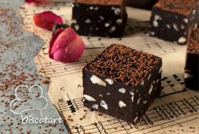 مربعات الشوكولا بثلاث مكونات فقط