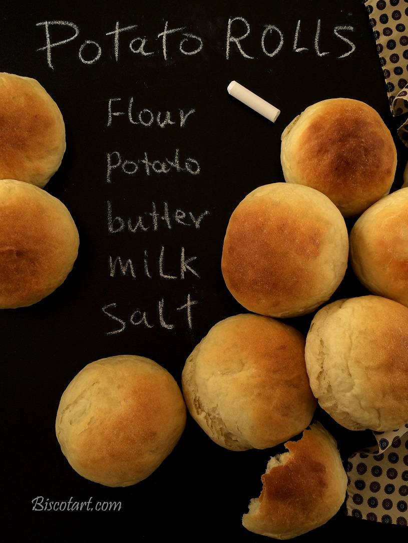 كرات الخبز بالبطاطا ( صمون بالبطاطا )
