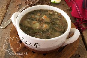 حساء العدس بالحامض على الطريقة اللبنانية